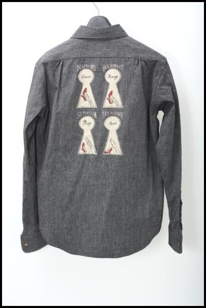 GANGSTERVILLE ブラックシャンブレーシャツ