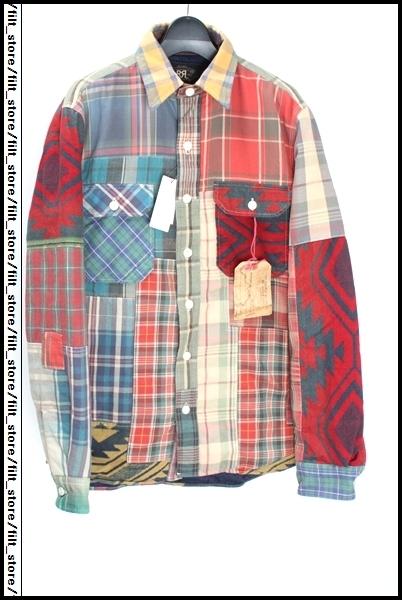 RRL LIMITEDパッチワークシャツ