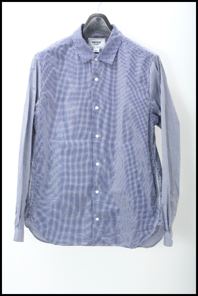 YAECA チェック スナップシャツ