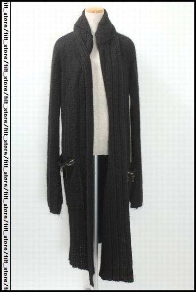 IFSIXWASNINE メンズスカル装飾モヘヤニットコート
